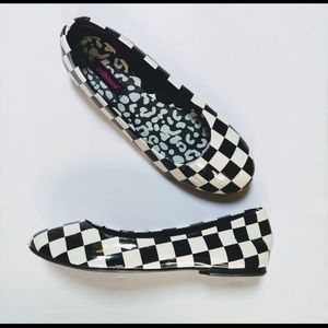 Shoes - Checkered flats